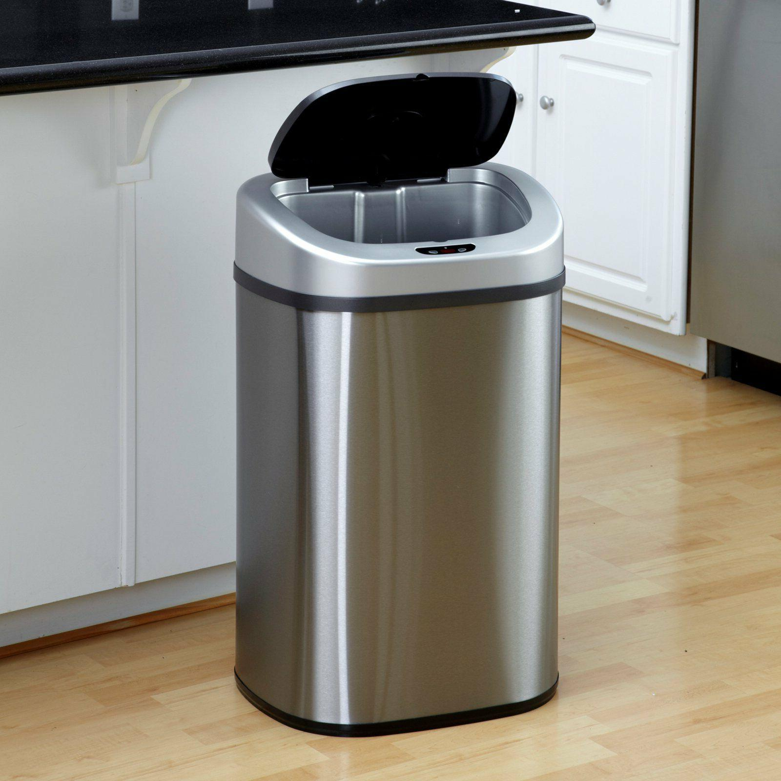 Touchless Trash Can 21 Gallon Hands Free Motion Sensor Stain