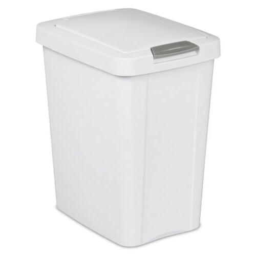 Sterilite® 7.5 Gallon TouchTop Wastebasket, Trash Can with