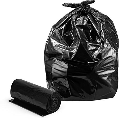 Trash Bags Large Bags, 2 Mil, Roll, Wx68 H, Black