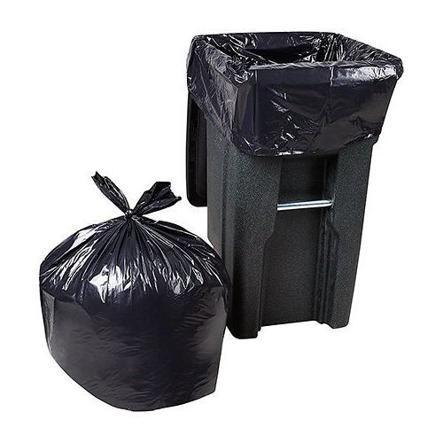 "Trash Bags Large Heavy Duty Bags, Mil, 25/Coreless Roll, 61"" Wx68 H, Black"