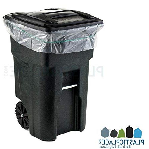 "Plasticplace 95-96 Gallon Can MIL Duty Trash 61"" x 68"""