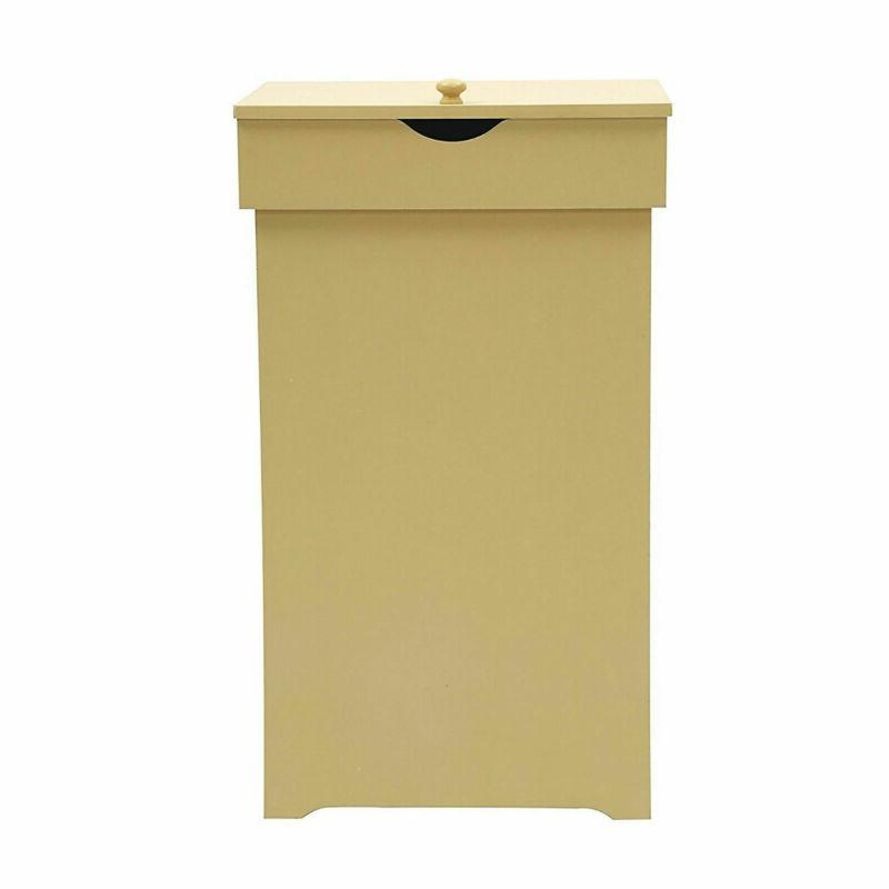 wooden trash cabinet can bin with lid