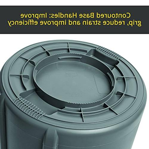 Rubbermaid Commercial Products Heavy-Duty Can, Gray