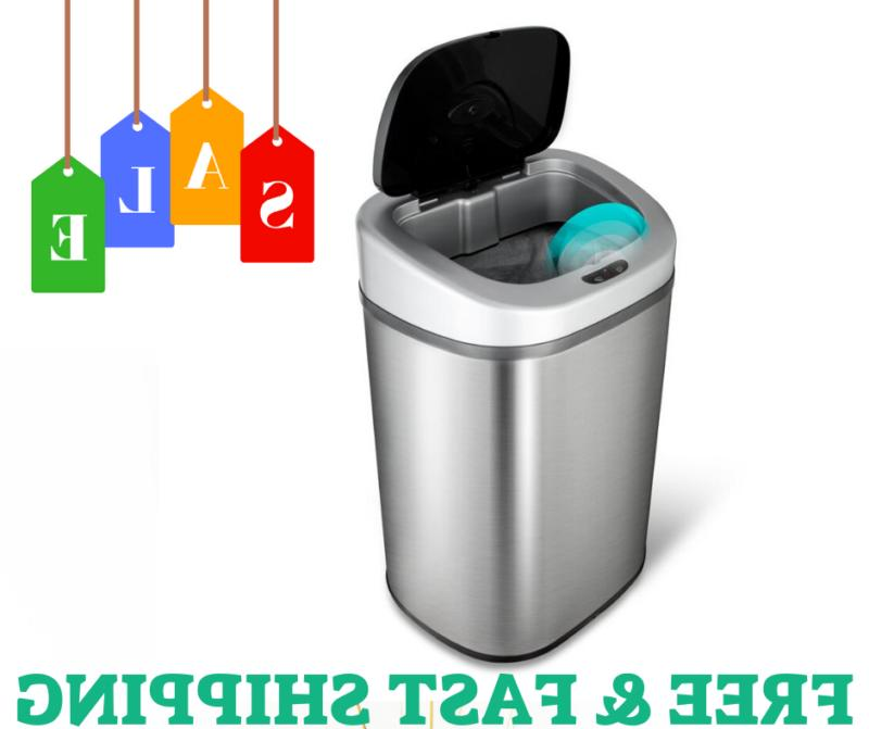 Stainless Steel Trash Can Garbage Bin WITH Motion Sensor FOR