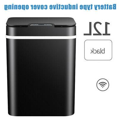 automatic trash garbage can touchless sensor stainless