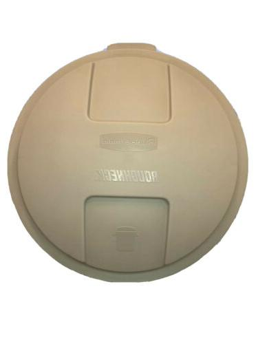 Rubbermaid Inc 32Gal Trash Can Lid 5B38-00-Egrn Trash Cans P