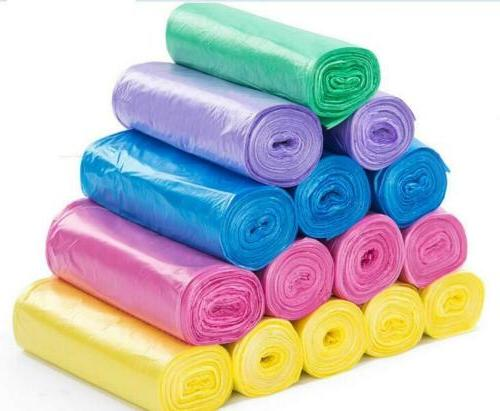 5 Rolls Trash Can Liner Bag Home Office Colored Disposable K