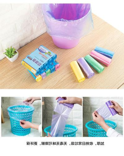 Trash Can Liner Bag Home Office Colored Disposable Kitchen W