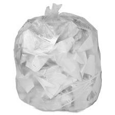 "Trash Can Liner, 7-10 Gallon, .6Mil, 24""x23"", 500/BX, Clear,"