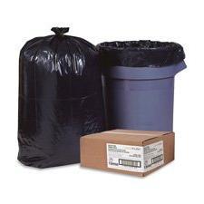 "Trash Can Liners,Rcycld,31-33 Gal,1.25mil,33""x49"",100/BX,BK,"