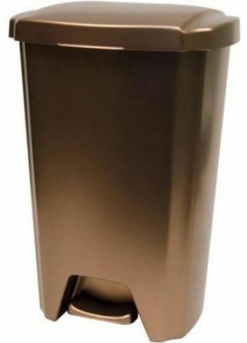 Hefty Trash Can with Lid 13-Gallon Step-On, Bronze for Kitch