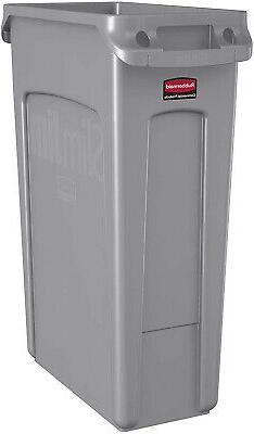 Trash Garbage Can Rubbermaid Commercial Slim Plastic Rectang