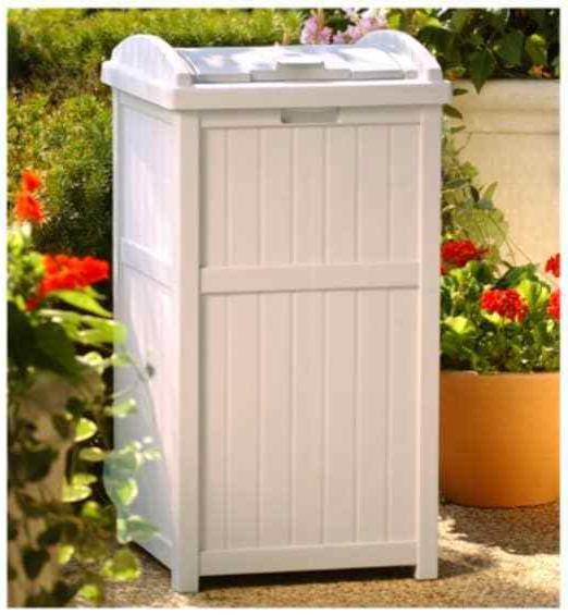 Suncast Hideaway Storage Bin Box