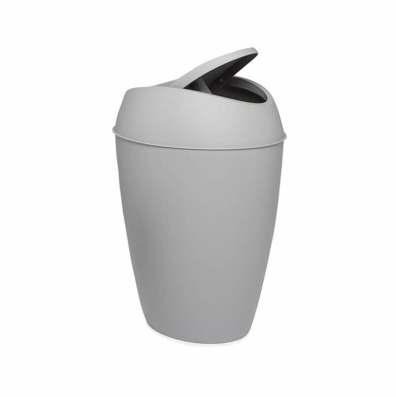 umbra twirl small bathroom trash can with lid