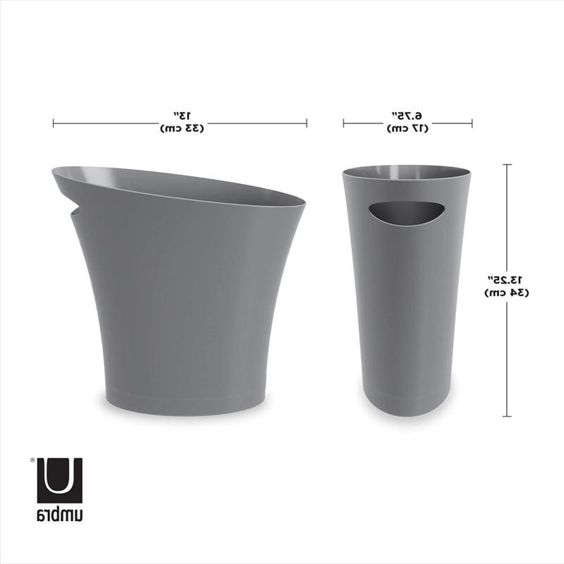 Umbra Skinny Bathroom Trash, Garbage Can, Wastebasket for