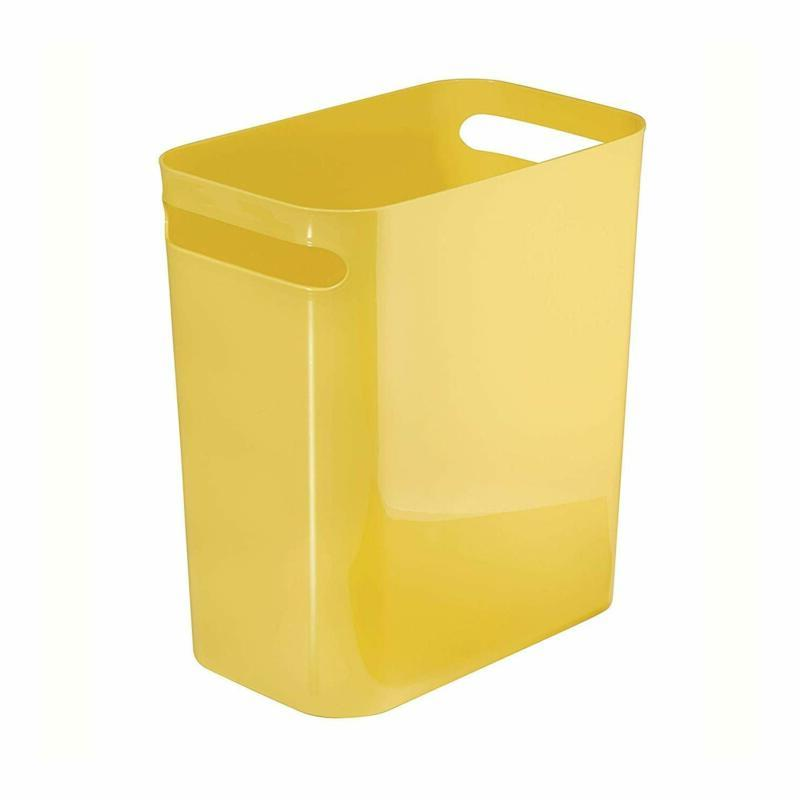 una rectangular trash can with handles waste