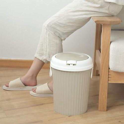US Plastic Can Garbage Bin Home Bathroom Basket