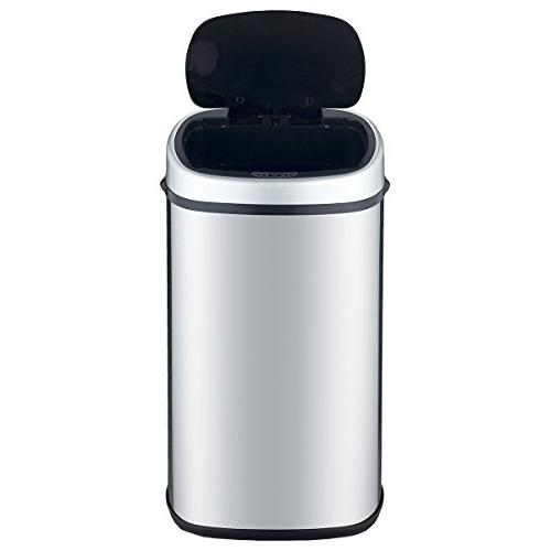 BestOffice Trash Can Garbage Stainless Home Bathroom Lid Touch Free / SS