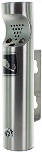 ELITRA Wall Mounted Outdoor Cigarette Butt Receptacle, Silve