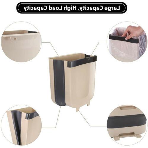 Wall Folding Waste Bin Kitchen Cabinet Door Hanging Can Bin BA