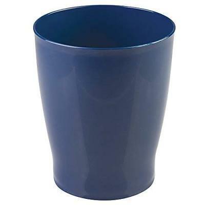 wastebasket navy blue trash can