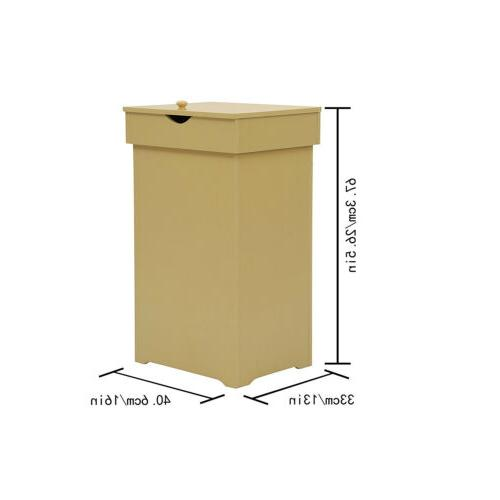 13 Gallon with Lid Wastebasket Trash
