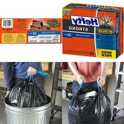 Large Trash Bags 33 Gallon Can Liner Home Waste Disposal Pac