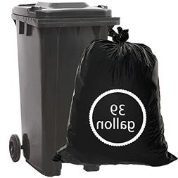 Begale 39 Gallon Lawn and Leaf Trash Bags, Black, 62 Counts
