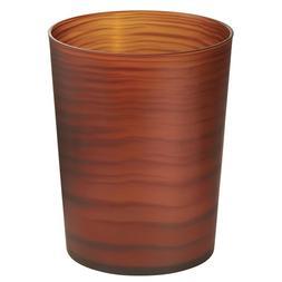 InterDesign Lotus Wastebasket Trash Can, Brown