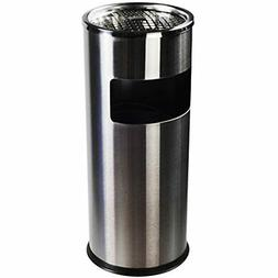 Luxurious Stainless Steel Trash Can Garbage Bin With Ashtray