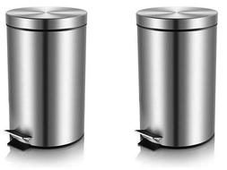 Stainless Steel Foot Step Trash Can Home, Office, 3L/0.8Gall