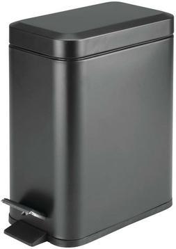 M.Design 1.3 Gallon Rectangular Small Step Trash Can Wasteba