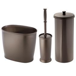 MDesign Bathroom Toilet Bowl Brush, Toilet Paper Roll Holder
