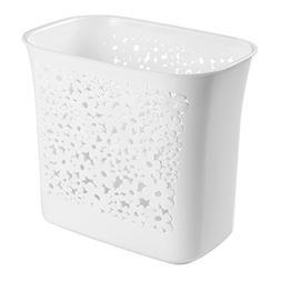 mDesign Floral Wastebasket Trash Can for Bathroom, Kitchen,