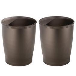 InterDesign York Compact Wastebasket Trash Can with Flip Top