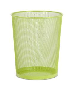 Mesh Metal Trash Basket 18L-Green
