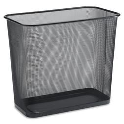 Wholesale CASE of 10 - Lorell Black Mesh Rectangular Waste B