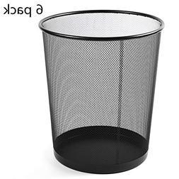 mesh round wastebasket trash can