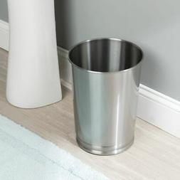 mDesign Metal Round Small Trash Can Wastebasket