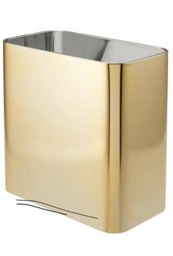mDesign Metal Small Rectangle Trash Can Waste Can Bin - Soft