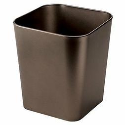 mDesign Metal Square Small Trash Can Wastebasket, Garbage Co