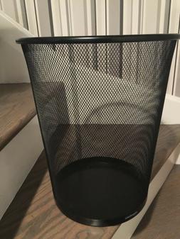 Metal Waste Basket Office Trash Small Mesh Round Can Garbage