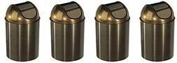Umbra Mezzo, 2.5 Gallon Trash Can with Lid, Ideal for Small