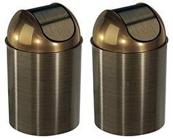 Umbra Mezzo Swing-Top Waste Can, 2.5-Gallon , Bronze )