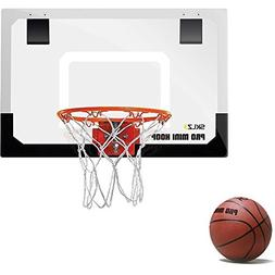 "SKLZ Pro Mini Basketball Hoop W/Ball. 18""x12"" Shatter Re"