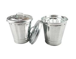 AITING Mini Trash can & Iron Garbage can Pencil Cup Holder 2