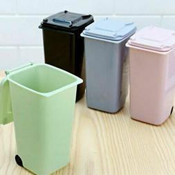 Mini Plastic Desktop Garbage Basket Table Waste Bin Home Off