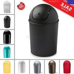 Mini Small Trash Garbage Can Plastic Swing Lid Bathroom Kitc