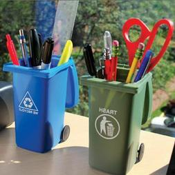 Mini Trash Can Pencil Holder Set