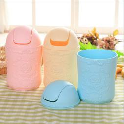 Mini Trash Can with Lid for Car Office Mini Dust Holder Rubb